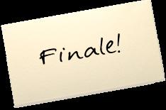 """Auf einem Zettel steht: """"Finale!"""""""