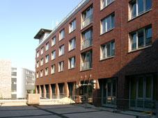 Außenansicht der Wohngruppen Harburg Carrée